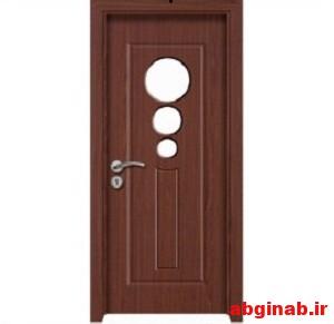 درب چوبی شیشه خور کد 11