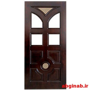 درب چوبی شیشه خور کد 8