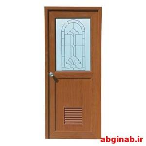 درب چوبی شیشه خور کد 12