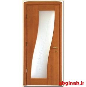 درب چوبی شیشه خور کد 5