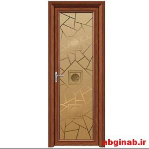 درب اتاق چوبی شیشه خور