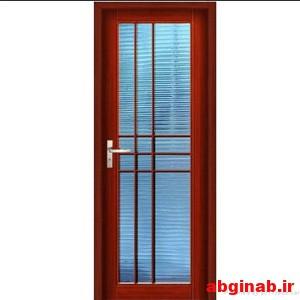 درب چوبی شیشه خور کد 2